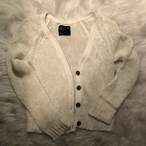 Super cute chunky knit white cardigan